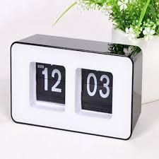 horloge de bureau numérique auto flip horloge de bureau classique élégant rétro de