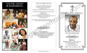 funeral program ideas homegoing service program sle exle of programs for homegoings
