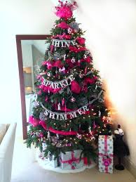 themed christmas decor hot pink model themed christmas tree chaotically creative