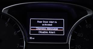 first of its kind rear door alert technology from nissan in the