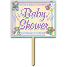 baby shower sign baby shower yard sign party accessory 1 count