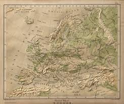 Europe Map Physical by Physical Map Europe David Rumsey Historical Map Collection