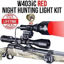 wicked hunting lights amazon amazon com wicked lights w403ic red night hunting light kit for