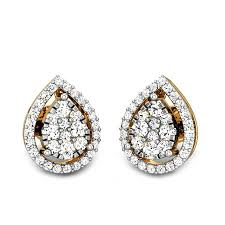 diamond earrings diamond yellow gold 18k inara ziah diamond earrings