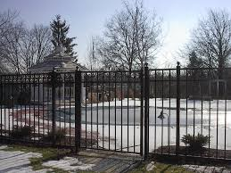 ornamental aluminum steel fence installation central jersey fence
