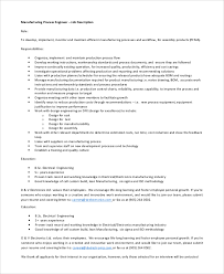Manufacturing Job Resume by Sample Engineer Job Description Trainee Civil Engineer Job