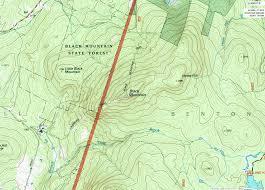 Chippewa National Forest Map Moderate Hike Black Mountain Benton Nh Nh52wav New