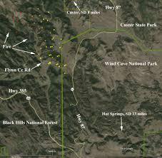 Sd Map South Dakota Cold Fire U2013 Wildfire Today