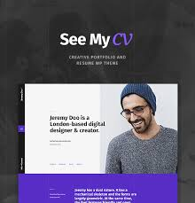Online Resume Portfolio by See My Cv Resume U0026 Vcard Wordpress Theme By Cmsmasters Themeforest