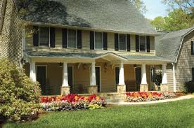 saltbox style home front porch addition on salt box style home