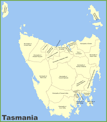 map of tasmania australia tasmania maps australia maps of tasmania tas