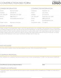 design proposal letter exle construction proposal quote templates download in excel word