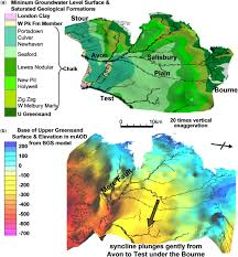 Wessex England Map by Modelling The Hydrogeology And Managed Aquifer System Of The Chalk