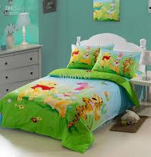 Single Bed Linen Sets Lovely Winnie Tigger Cartoon Kids Duvet Cover Sheet Pillowcase Set
