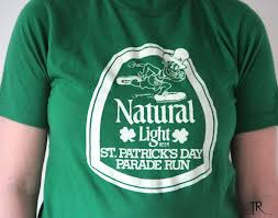natty light t shirt 2015 st patrick s day vintage 1980s natural light beer t shirt