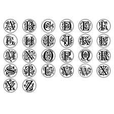 wax stamp wax seal stamp alphabet 26 letter a z retro wooden