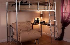 High Sleeper Bed With Futon High Sleeper Bunk Silver U0026 Optional Skye Futon Chair Bed Sweet