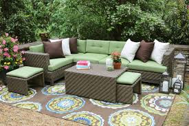 Hampton Bay Sectional Patio Furniture - ae outdoor hampton 8 piece sectional seating group with cushions