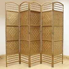 Rattan Room Divider Natural Hand Made Wicker Room Divider Screen 5 Panel U2013 Room