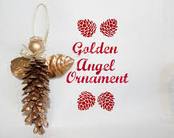 hand crafted golden christmas angel adirondack heart