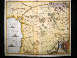 Vintage Map Syria U0026 Lebanon 1681 Antique Map Fine Hand Colored Dapper