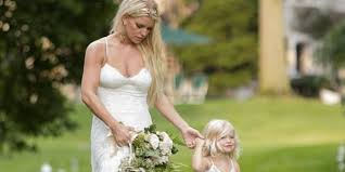 Jessica Simpson Home by Jessica Simpson Wows In White Bridesmaid Dress At Sister Ashlee U0027s