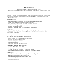 Sample Of Resume For Receptionist by Free Entry Level Receptionist Resume Template Sample Ms Word