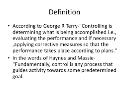 controlling definition controlling process in supervision
