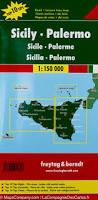 Sicily Italy Map Road Map Of Sicily U0026 Palermo City Map Italy Freytag U0026 Berndt