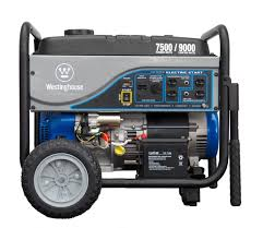 westinghouse 7500 watt electric start portable generator wh7500e