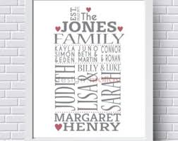 Personalized Pictures With Names Family Wall Art