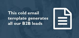 this cold prospecting email template generates all our sales leads