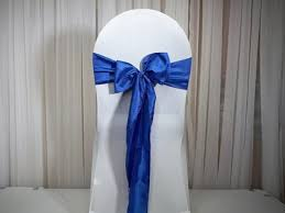 royal blue chair sashes chair sashes dina s decor linen rentals and wedding invitations