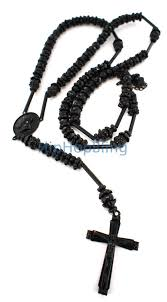 rosary necklace all black diamond bling bling rosary necklace hip hop rosary
