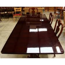 cherry dining table with 6 chairs upscale consignment