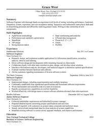 Resume Template Software by Engineering Resume Templates Best Software Engineer Exle