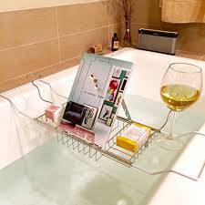 Wine Glass Holder For Bathtub Bathtub Caddy Tray Good Gifts For Senior Citizens