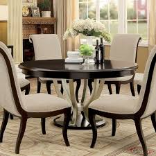 Pedestal Tables And Chairs Furniture Of America Daphne Round Pedestal Espresso Champagne