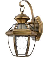 Antique Brass Wall Sconce Quoizel Ny8315 Newbury 7 Inch Wide 1 Light Outdoor Wall Light