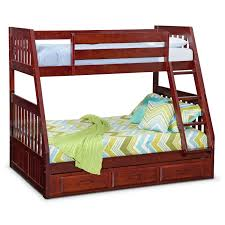 beadboard bedtime the ranger merlot twin over full bunk bed with