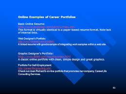 Online Resume Portfolio Examples by And Used With The Permission Of The Author Ppt Video Online