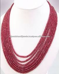 gemstone beaded necklace images Ruby stone faceted bead necklace for jewelry making buy ruby jpg