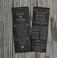 diy printable wedding program chalkboard