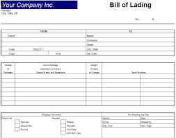 Bill Of Lading Template Excel Excel Bill Of Lading Template Bill Of Lading Document