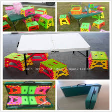 portable suitcase folding tables and chairs to be used as the
