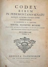 libreria giuridica torino codex rerum in pedemontano senatu libreria giuridica bonfanti