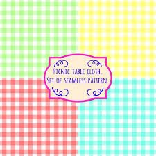 picnic table cover set picnic table cloth set of four pastel color square patterns stock