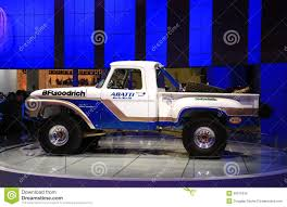 Classic Ford Truck Tires - classic ford truck is displayed at the auto show editorial photo