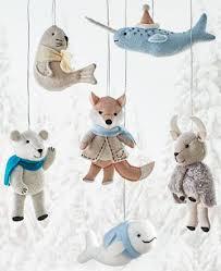 martha stewart living arctic animal felt ornaments set of 6