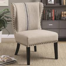 Traditional Accent Chair Coaster 902496 Traditional Armless Accent Chair Grey Fabric Upholstery